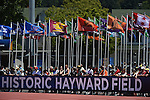 13 JUNE 2015: Fans look on during the Division I Men's and Women's Outdoor Track & Field Championship held at Hayward Field in Eugene, OR. Steve Dykes/ NCAA Photos