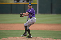 Colorado Rockies relief pitcher Jesse Lepore (34) prepares to deliver a pitch during an Extended Spring Training game against the Arizona Diamondbacks at Salt River Fields at Talking Stick on April 16, 2018 in Scottsdale, Arizona. (Zachary Lucy/Four Seam Images)