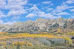 US, CO, near Gunnison, Rocky Mountain Autumn