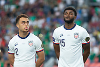 DENVER, CO - JUNE 6: Mark McKenzie, Sergino Dest of the United States during a game between Mexico and USMNT at Mile High on June 6, 2021 in Denver, Colorado.