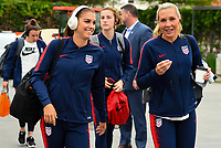 Houston, TX - Sunday April 8, 2018: Alex Morgan, Allie Long during an International friendly match versus the women's National teams of the United States (USA) and Mexico (MEX) at BBVA Compass Stadium.