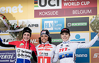 (even a U23 rider herself) Ceylin Del Carmen Alvarado (NED/Corendon-Circus) wins her very first (elite) World Cup while Lucinda Brand (NED/Telenet-Baloise Lions) finishes 2nd & Yara Kastelijn (NED/777) 3rd (topping an all-dutch podium)<br /> <br /> <br /> Women's Race<br /> UCI cyclocross WorldCup - Koksijde (Belgium)<br /> <br /> ©kramon