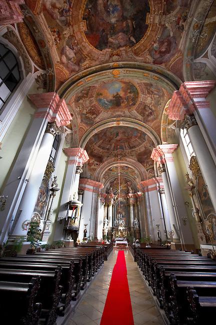 Interior of the Minorite church (Minorita Templom) Eger, Hungary