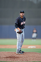Jupiter Hammerheads pitcher Alex Vesia (28) during a Florida State League game against the Tampa Tarpons on July 26, 2019 at George M. Steinbrenner Field in Tampa, Florida.  Tampa defeated Jupiter 2-0 in the first game of a doubleheader.  (Mike Janes/Four Seam Images)