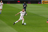 ST PAUL, MN - SEPTEMBER 06: Kyle Beckerman #5 of Real Salt Lake dribbles the ball during a game between Real Salt Lake and Minnesota United FC at Allianz Field on September 06, 2020 in St Paul, Minnesota.