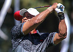 Former MLB player Ozzie Smith watches a tee shot in an American Century Championship practice round at Edgewood Tahoe Golf Course in Stateline, Nev., on Wednesday, July 15, 2015. <br /> Photo by Cathleen Allison