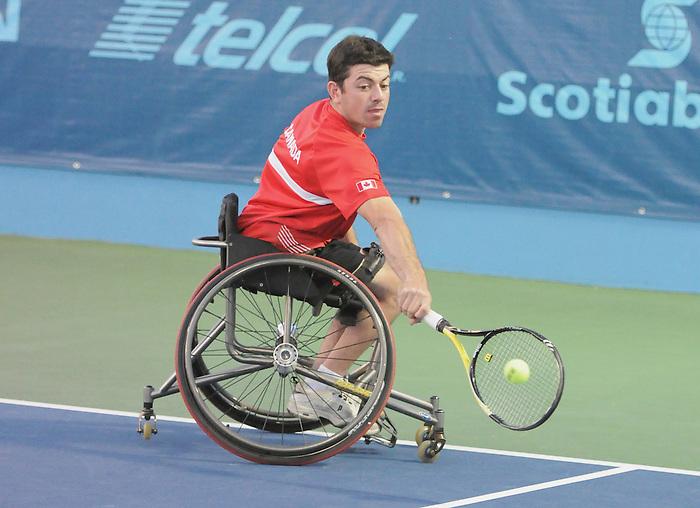 Joel Dembe, Guadalajara 2011 - Wheelchair Tennis // Tennis en fauteuil roulant.<br /> Joel Dembe competes in wheelchair tennis // Joel Dembe participe au tennis en fauteuil roulant. 11/13/2011.
