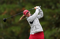 CHAPEL HILL, NC - OCTOBER 13: Angelica Moresco of the University of Alabama tees off at UNC Finley Golf Course on October 13, 2019 in Chapel Hill, North Carolina.