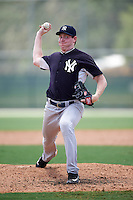 GCL Yankees East relief pitcher Kyle Halbohn (78) during a game against the GCL Pirates on August 15, 2016 at the Pirate City in Bradenton, Florida.  GCL Pirates defeated GCL Yankees East 5-2.  (Mike Janes/Four Seam Images)