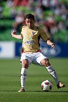 MELBOURNE, AUSTRALIA - DECEMBER 27: Ali Abbas of the Jets controls the ball during the round 20 A-League match between the Melbourne Victory and the Newcastle Jets at AAMI Park on December 27, 2010 in Melbourne, Australia. (Photo by Sydney Low / Asterisk Images)