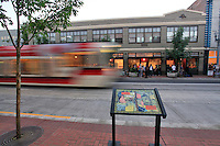 The Pearl district on First Thursday in evening light in NW Portland Oregon