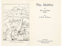 BNPS.co.uk (01202) 558833. <br /> Pic: HeritageAuctions/BNPS<br /> <br /> Pictured: The title page of the first edition. <br /> <br /> A rare first edition of JRR Tolkien's The Hobbit which has numerous spelling mistakes has sold for £46,000 ($60,000) after sparking a bidding war.<br /> <br /> Some 1,500 copies of the middle earth fantasy novel were published in September 1937, selling out by the end of the year.<br /> <br /> The book contains 16 misprints which were corrected in later editions by the publishers George Allen & Unwin Ltd.<br /> <br /> This example, which is in its colourful original dust jacket, was sold with Heritage Auctions, of Dallas, Texas.<br /> <br /> It had been expected to sell for £15,000 but fetched three times its estimate.