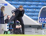 22.08.2020 Rangers v Kilmarnock: Steven Gerrard issues commands from the sidelines