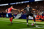 Jorge Resurreccion 'Koke' of Atletico de Madrid and Unai Simon of Athletic Club de Bilbao during the La Liga match between Atletico de Madrid and Athletic Club de Bilbao at Wanda Metropolitano Stadium in Madrid, Spain. October 26, 2019. (ALTERPHOTOS/A. Perez Meca)