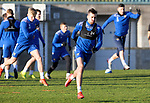 St Johnstone Training….Callum Booth pictured during training at McDiarmid Park ahead of Sundays game against Celtic.<br />