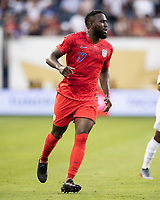 KANSAS CITY, KS - JUNE 26: Jozy Altidore #17 during a game between Panama and USMNT at Children's Mercy Park on June 26, 2019 in Kansas City, Kansas.
