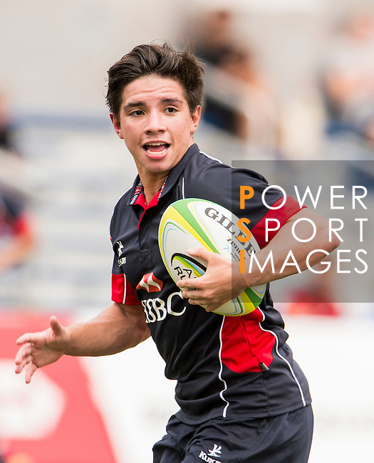 Mark Coebergh of Hong Kong in action during the match between Hong Kong and Singapore of the Asia Rugby U20 Sevens Series 2016 on 12 August 2016 at the King's Park, in Hong Kong, China. Photo by Marcio Machado / Power Sport Images