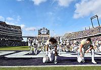 November 30, 2013:<br /> <br /> Baylor Bears inside receiver Levi Norwood #42 and tight end Jordan Najvar #18 praying before NCAA football game kickoff at Amon G. Carter Stadium in Fort Worth, TX.