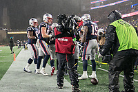 FOXBOROUGH, MA - NOVEMBER 24: Patriots players celebrate with New England Patriots Wide Receiver N'Keal Harry #15 after his touchdown during a game between Dallas Cowboys and New England Patriots at Gillettes on November 24, 2019 in Foxborough, Massachusetts.