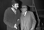 GIGI PROIETTI CON ALDO FABRIZI ROMA 1977