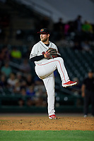 Rochester Red Wings pitcher Ian Krol (46) during an International League game against the Scranton/Wilkes-Barre RailRiders on June 24, 2019 at Frontier Field in Rochester, New York.  Rochester defeated Scranton 8-6.  (Mike Janes/Four Seam Images)
