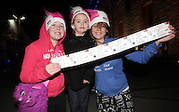 20/11/13<br /> Fans Kate Barrett(11),Viasmin McKee (5) and Rebecca Mcloughlin (12) pictured arriving to the Cheerios Childline Concert at the O2 Dublin this evening….<br /> Pic Collins Photos
