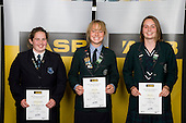 Girls Orienteering finalists Katherine Reynolds, Nicola Peat & Anna Gray. ASB College Sport Young Sportperson of the Year Awards 2008 held at Eden Park, Auckland, on Thursday November 13th, 2008.