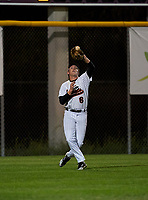 Sarasota Sailors outfielder Carter Hilton (6) catches a fly ball during a game against the Riverview Rams on February 19, 2021 at Rams Baseball Complex in Sarasota, Florida. (Mike Janes/Four Seam Images)