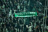 06.03.2013  Juventus v Celtic, UEFA Champions League round of the last 16 second leg  ...................    CELTIC FANS RANGERS MESSAGE