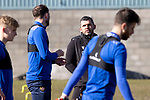 St Johnstone Training...19.03.21<br />Manager Callum Davidson pictured talking with Chris Kane during training at McDiarmid Park ahead of tomorrows game against Ross County.<br />Picture by Graeme Hart.<br />Copyright Perthshire Picture Agency<br />Tel: 01738 623350  Mobile: 07990 594431