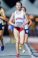 Amber Eichkorn of South Dakota competes in 10000 meter semifinal during West Preliminary Track & Field Championships at John McDonnell Field, Thursday, May 29, 2014 in Fayetteville, Ark. (Mo Khursheed/TFV Media via AP Images)