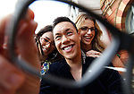 SPECSAVERS GOK WAN LAUNCH.TV's favourite style guru Gok Wan launches his retro vintage specs collection exclusive to Specsavers.