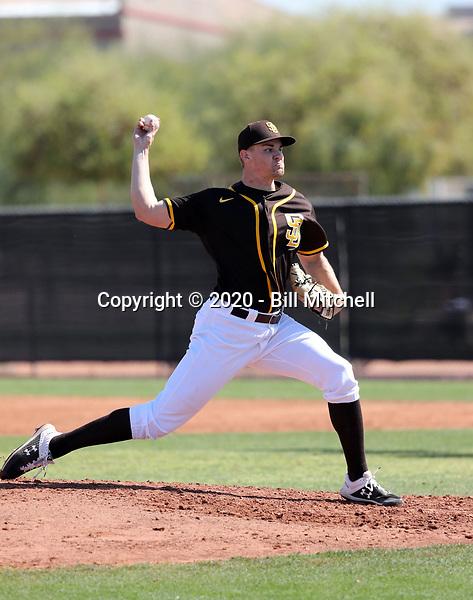 Nick Kuzia - San Diego Padres 2020 spring training (Bill Mitchell)