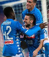 Dries Mertens of Napoli celebrates with Amadou Diawara and Jose Callejon after scoring the goal of 3-1 <br /> Napoli 02-11-2018 Stadio San Paolo Football Calcio Serie A 2018/2019 Napoli - Empoli Foto Cesare Purini / Insidefoto