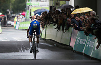 Niki Terpstra (NED/QUICK STEP FLOORS) wearing the number 1. <br /> <br /> Binckbank Tour 2017 (UCI World Tour)<br /> Stage 2: ITT Voorburg (NL) 9km