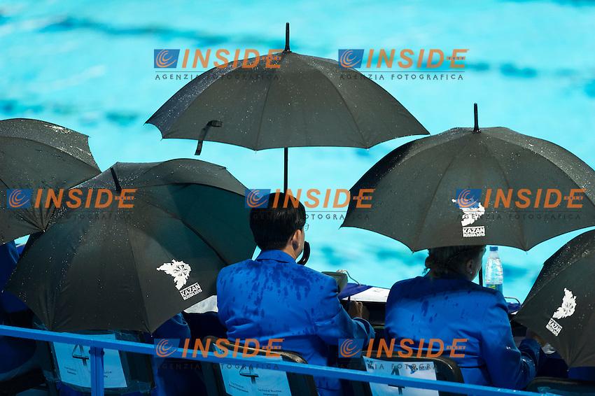 Judjes Under Rain<br /> Day 9 01/08/2015<br /> XVI FINA World Championships Aquatics<br /> Synchro<br /> Kazan Tatarstan RUS July 24 - Aug. 9 2015 <br /> Photo Pasquale Mesiano/Deepbluemedia/Insidefoto