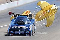 Apr. 5, 2009; Las Vegas, NV, USA: NHRA funny car driver Matt Hagan after winning his semi final race during eliminations of the Summitracing.com Nationals at The Strip in Las Vegas. Mandatory Credit: Mark J. Rebilas-