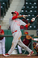 March 7 2010: Rafael Neda of University of New Mexico during game against USC at Dedeaux Field in Los Angeles,CA.  Photo by Larry Goren/Four Seam Images