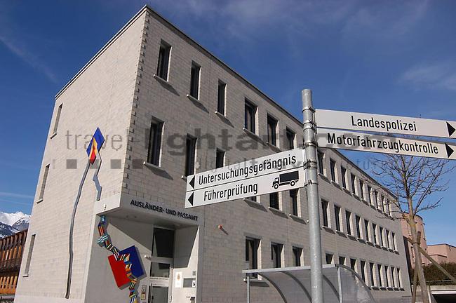 Polizeigebäude, Fremdenpolizei, Passamt, Vaduz...©Photo: Paul J.Trummer, Mauren / Liechtenstein .www.travel-lightart.com