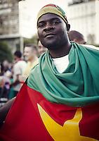 Cameroon fan in the Fifa fan fest