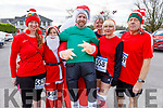 Sandra Byrne, Catherine McCarthy, Stephen Byrne, Pauline Walker, Mags Casey and Les Goster getting into the festive spirit at the Run Rudolph Run in Castleisland on Sunday.