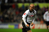 ATTENTION SPORTS PICTURE DESK<br /> Pictured: David Cotterill of Swansea City in action <br /> Re: Coca Cola Championship, Swansea City Football Club v Nottingham Forest at the Liberty Stadium, Swansea, south Wales. Saturday 12 December 2009