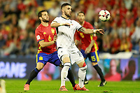 Spain's Nacho Fernandez (l) and Albania's Armando Sadiku during FIFA World Cup 2018 Qualifying Round match. October 6,2017.(ALTERPHOTOS/Acero) /NortePhoto.com /NortePhoto.com