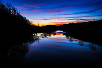 Sunset reflection on North Fork of Holston River