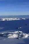 Les glaciers  de Furtwangler et du Nord dans la caldeira du Kilimandjaro
