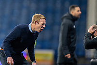 3rd November 2020, The John Smiths Stadium, Huddersfield, Yorkshire, England; English Football League Championship Football, Huddersfield Town versus Bristol City; Dean Holden Manager of Bristol City gasps as Bristol nearly take the lead in the 80th min