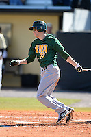 Siena Saints outfielder Dan Swain (22) during a game against the Central Florida Knights at Jay Bergman Field on February 16, 2014 in Orlando, Florida.  UCF defeated Siena 9-6.  (Mike Janes/Four Seam Images)