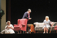"""Meredith Taylor on stage with Michael O'Leary and Tina Sloan - Guiding Light's Michael O'Leary author of """"Breathing Under Dirt"""" - full play - had its world premier on August 13 and 14, 2016 at the Ella Fitzgerald Performing Arts Center, University of Maryland Eastern Shore, Princess Anne, Maryland  (Photo by Sue Coflin/Max Photos)"""