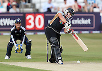 Aimee Watkins in batting action for New Zealand - England Women vs New Zealand Women - First match of the NatWest summer T20 cricket series at the Ford County Ground, home of Essex CCC, Chelmsford -  29/06/10 - MANDATORY CREDIT: Gavin Ellis/TGSPHOTO - Self billing applies where appropriate - Tel: 0845 094 6026