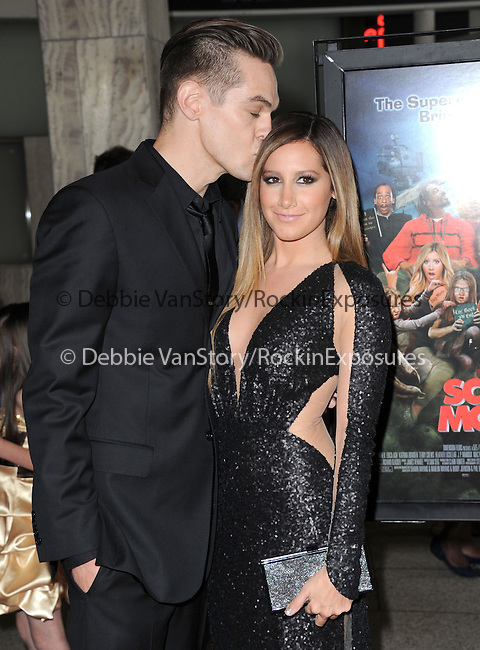Ashley Tisdale and boyfriend Christopher at The Dimension Films Premiere of Scary Movie V held at The Cinerama Dome in Hollywood, California on April 11,2013                                                                   Copyright 2013 Hollywood Press Agency